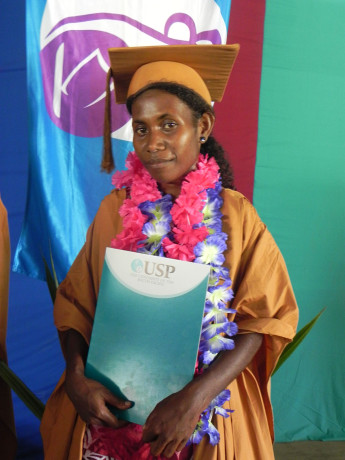Matilda Buto on her graduation day