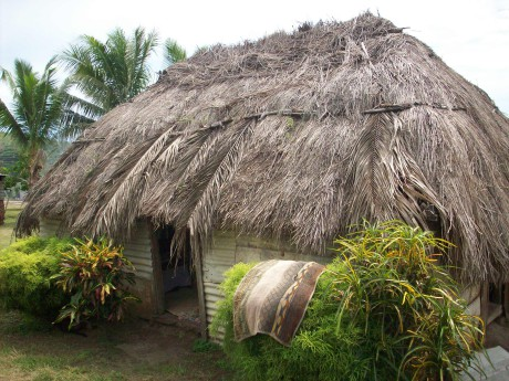 This traditional bure was home to Joshua, his wife and two teenage children.