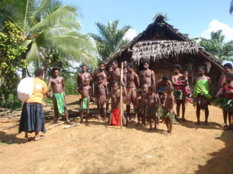 Although many ni-Vanuatu are quite comfortable with traditional dress at home in their village, they need clothes to enable them to visit town and participate more widely in society.